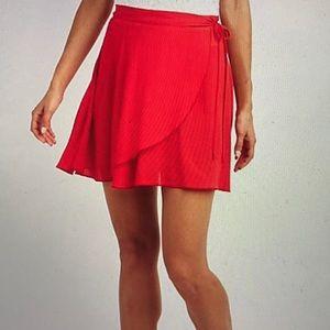 Charlotte Russe Red Skater Skirt